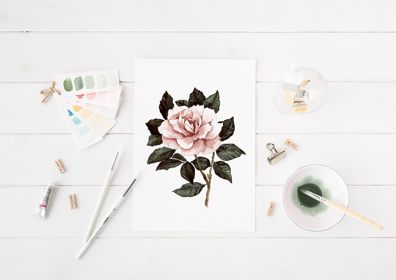 Art & Illustration | Watercolor Floral Painting