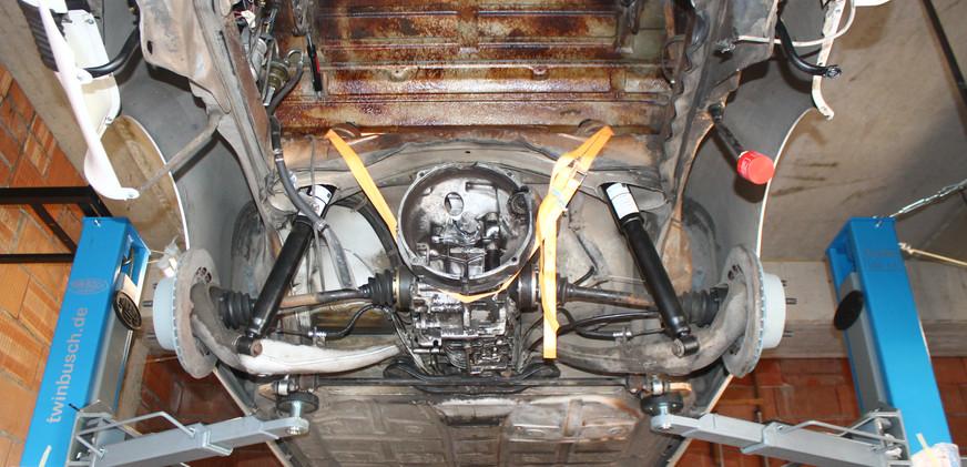 Unterboden Porsche Ansicht