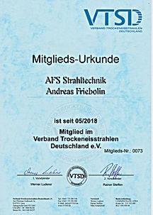 Mitglieds-Urkunde VTSD