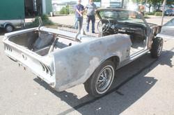 Mustang entlacken