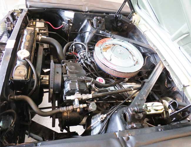 Motorraum nach der Reinigung