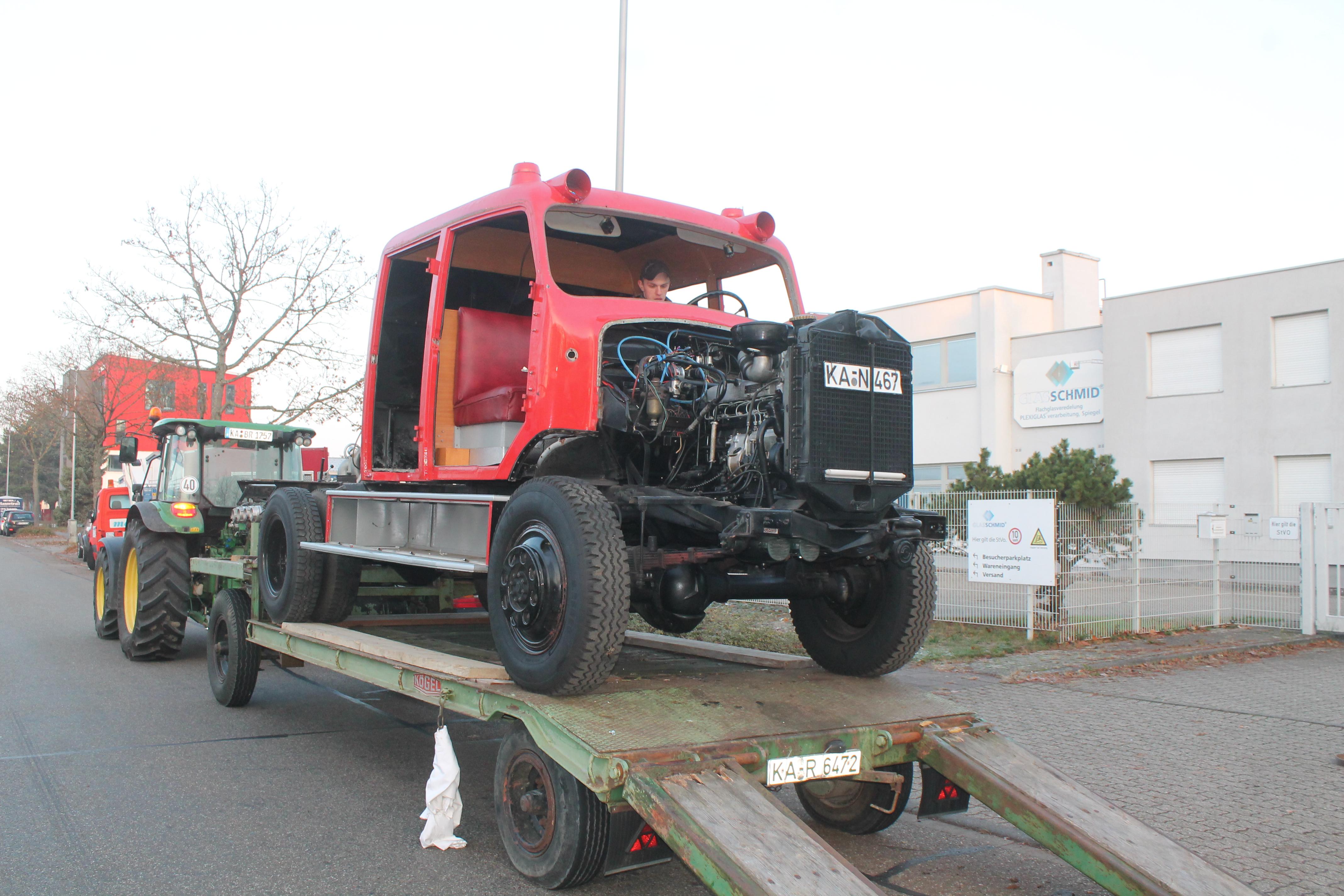 Historisches Feuerwehrauto