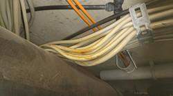 Ablagerungen auf Elektrokabel