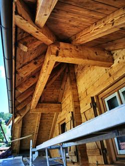 Abgestrahlte Dachüberstände