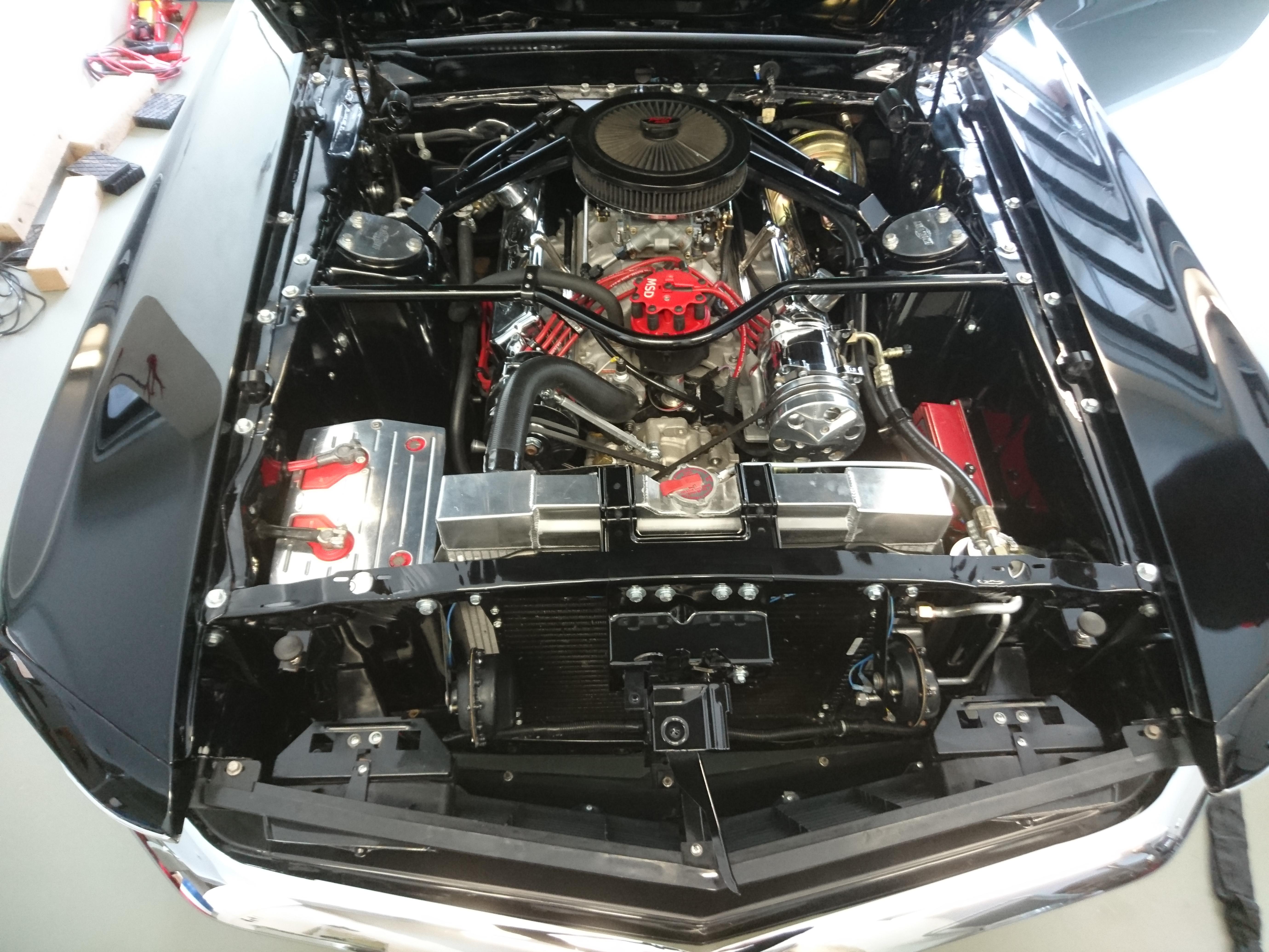 Motorraum gereinigt