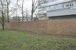 Graffiti entfernt