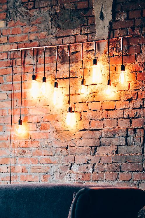 Oświetlenie z żarówek edisona