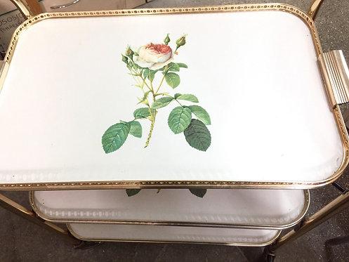 Złoty wózek/barek w róże