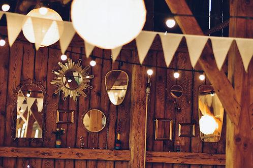 Zestaw dekoracyjnych luster