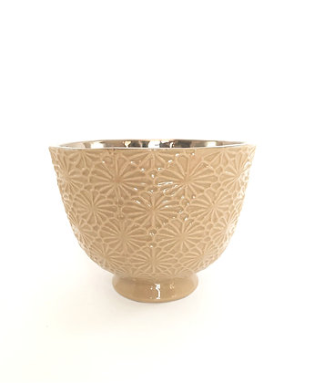 Flower Votive Bronze&Mustard Bowls