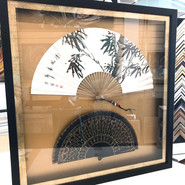 Delicate hand fans