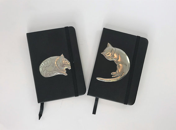 Pewter Cat Note Books