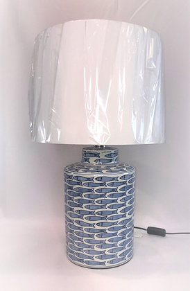 Blue & White Fish Lamp