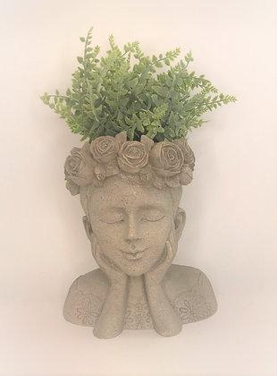 Girl Bust Flower Pot