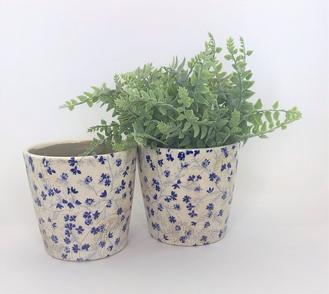 Blue & White Planters