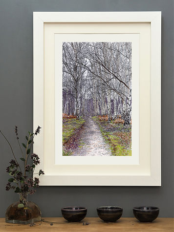 'A New Years Walk' Mounted Print