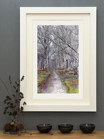 'A New Years Walk' Mounted Print
