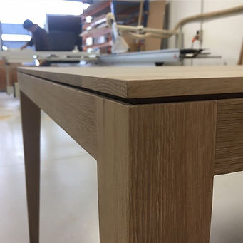 Solid Oak Leag dining tables ready for stain #furniture #cnc #3dmachining #oak #hardwoodfurniture #n