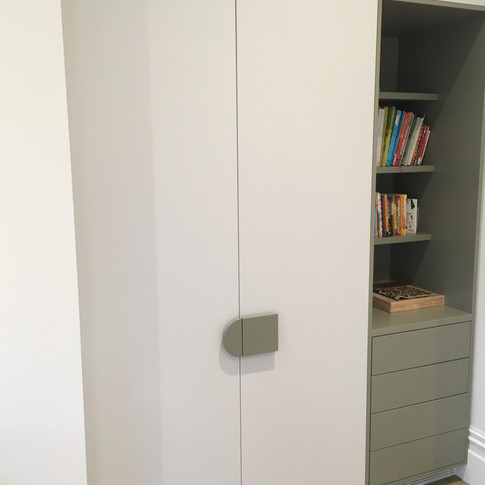 Custom designed wardrobes.