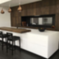 Recently completed kitchen. Rustic bandsawn oak finished in _woca.denmark.nz diamond oil. _neolithsu