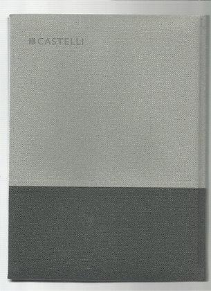 מחברת קסטלי בד שני צבעים A4 - שורות - מגוון צבעים