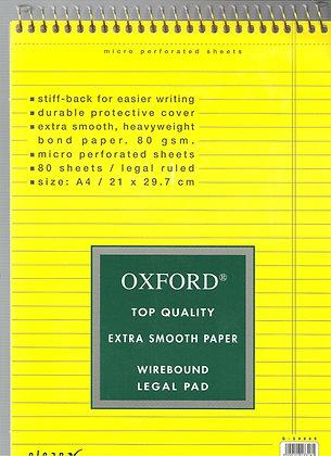 בלוק מכתבים אוקספורד שורה צהוב 29.7*21