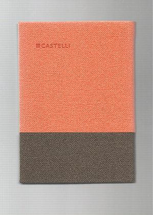 פנקס קסטלי בד שני צבעים 10*14 - מבחר צבעים