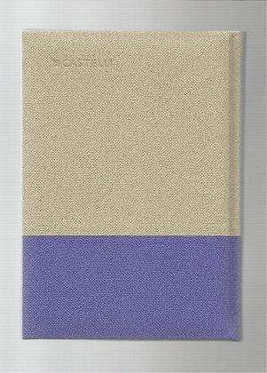 פנקס קסטלי בד שני צבעים 14.5*20.5 - מגוון צבעים