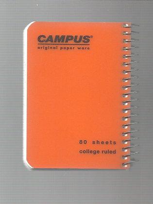 פנקס קמפוס פלסטיק ספירלה צד 12*8.5 - מגוון צבעים