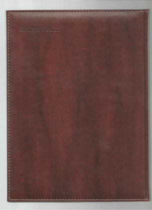 פנקס קסטלי דמוי עור -  מגוון עיצובים - A4