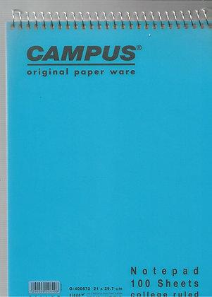בלוק מכתבים קמפוס שורה צהוב 21*29.7 - מגוון צבעים