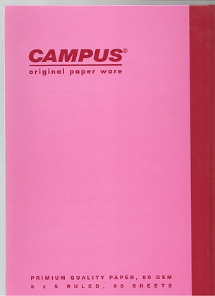 מחברת קמפוס A4 - משובץ - מגוון צבעים