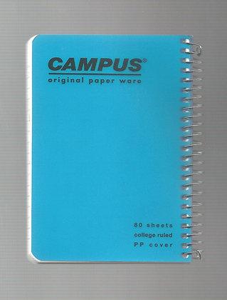 פנקס קמפוס פלסטיק ספירלה צד 10.5*14.8 - מגוון צבעי