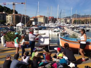 Visite pédagogique des écoliers du Centre de Decouverte du Monde Marin de Nice