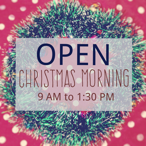 Christmas open hours 2018