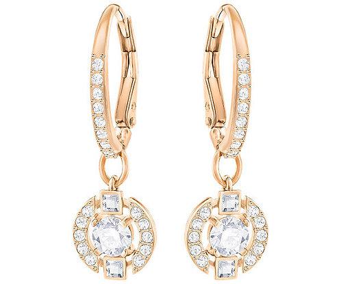 Swarovski Sparkling Dance Round Pierced Earrings, White