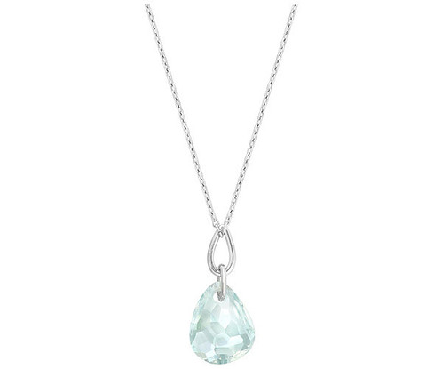 Swarovski parallele micro necklace very delicate and refined this necklace features a sparkling light azore crystal in an exclusive cut swarovskis diamond touch light effect gives the aloadofball Choice Image