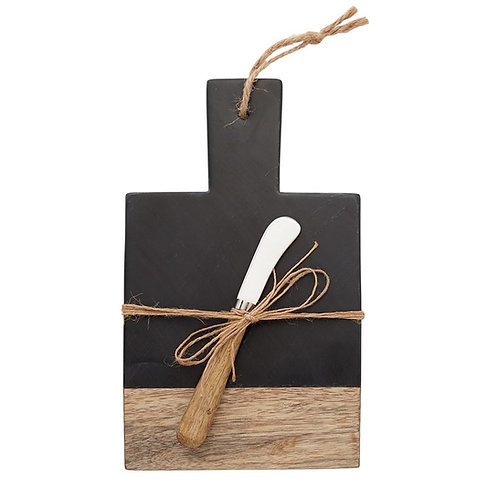 Mud Pie Slate & Wood Board Set