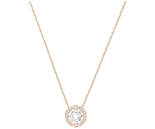 Swarovski Sparkling Dance Round Necklace, White