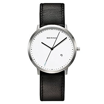 BERING Time 11139-404 Classic Collection Watch with Calfskin Band and scratch re