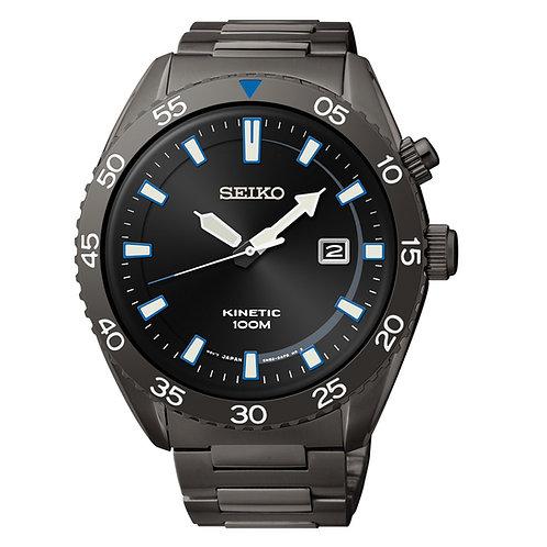 Seiko Men's SKA625 Dress Sport Analog Display Japanese Quartz Black Watch