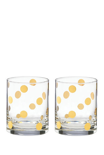 kate spade new york 'pearl place' Double Old Fashioned Glasses, Set of 2