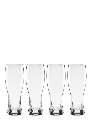kate spade new york 'larabee dot' Set of 4 Beer Glasses