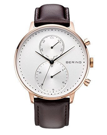 BERING Time 13242-564 Mens Classic Collection Watch with Calfskin Band and scrat