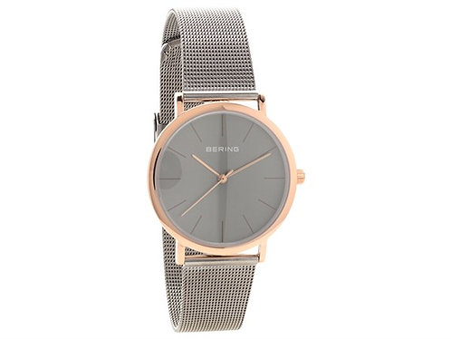 BERING Time Men's Classic Collection Watch with Grey Mesh Band 13436-369