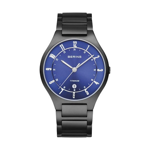 BERING Time 11739-727 Mens Titanium Collection Watch with Titanium Band and scra