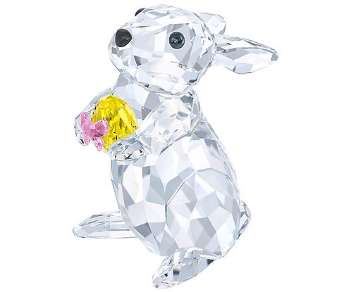 Swarovski Rabbit with Yellow Easter Egg