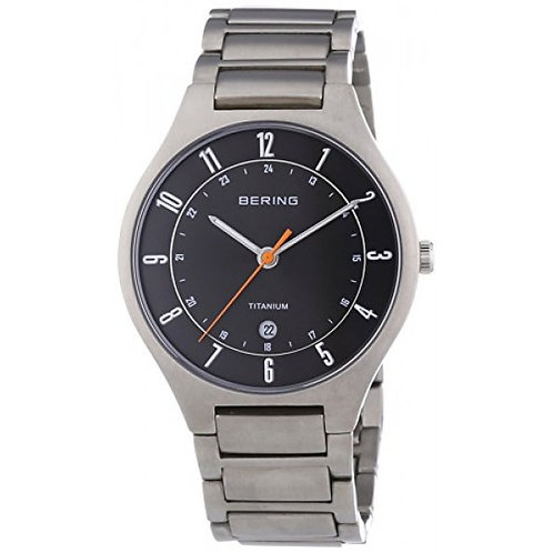BERING Time 11739-772 Mens Titanium Collection Watch with Titanium Band and scra