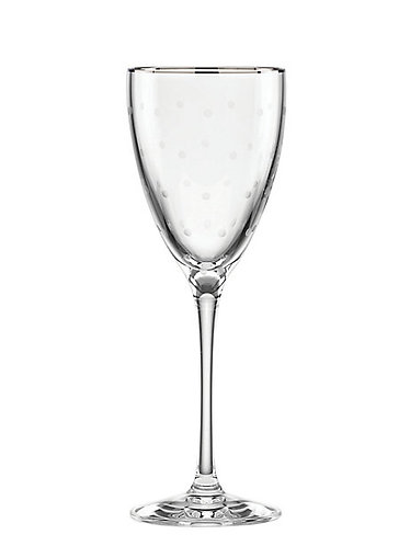 kate spade 'larabee dot' Platinum Wine Glass 7.5 oz. 854585