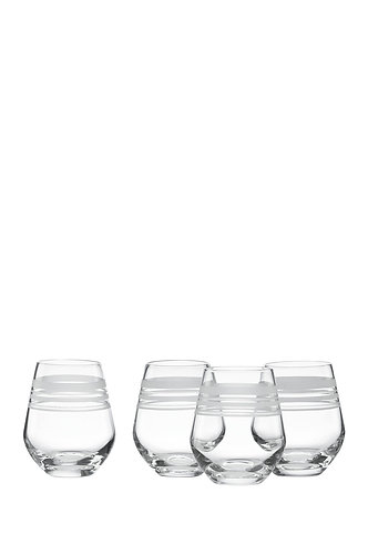 kate spade new york 'library stripe' Set of 4 Stemless Wine Glasses